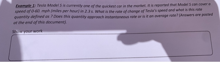 Solved: Example 1: Tesla Model S Is Currently One Of The Q