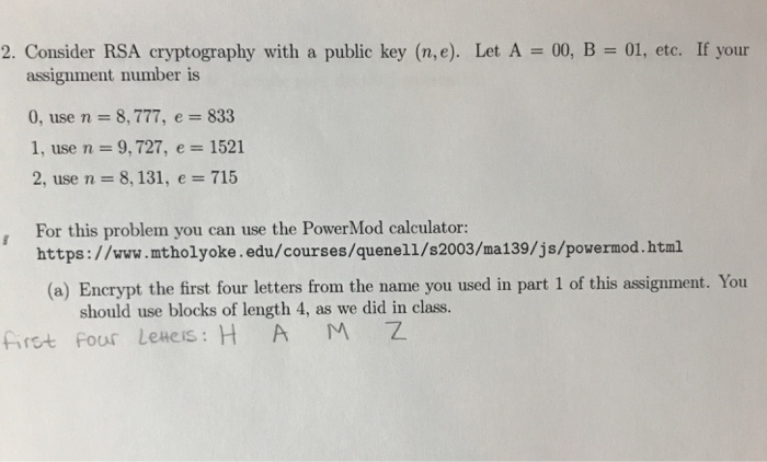 cryptography assignment