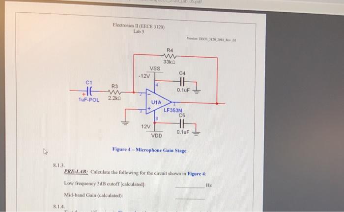 Solved: Lab,0S pdi Electronics II (EECE 3120) Lab 5 Versio