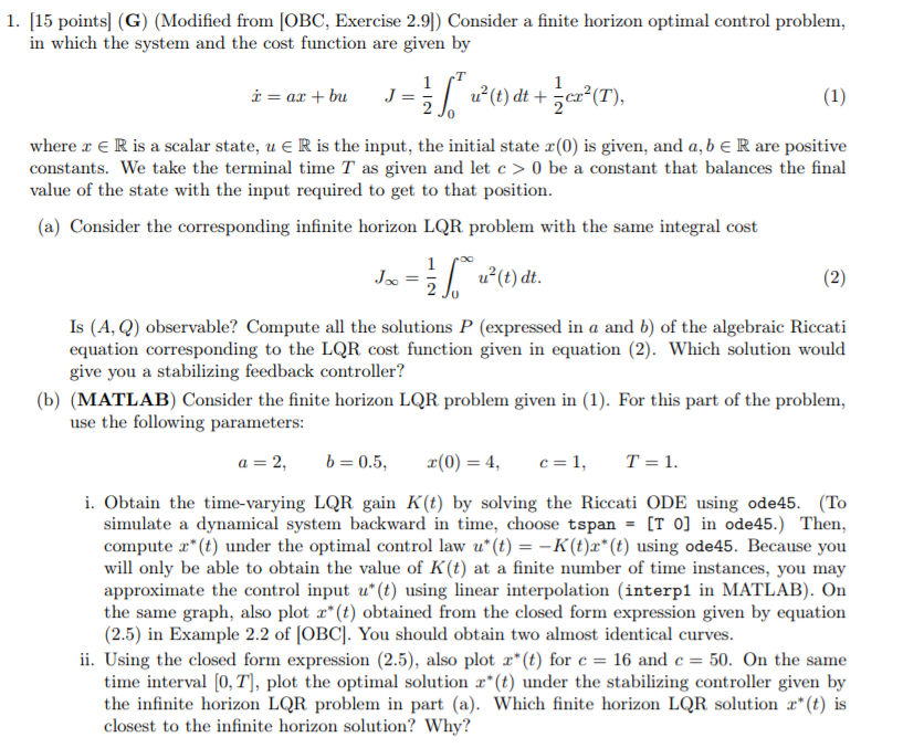 1  [15 Pointsl (G) (Modified From [OBC, Exercise 2