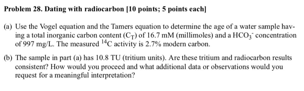 radiocarbon dating inorganic