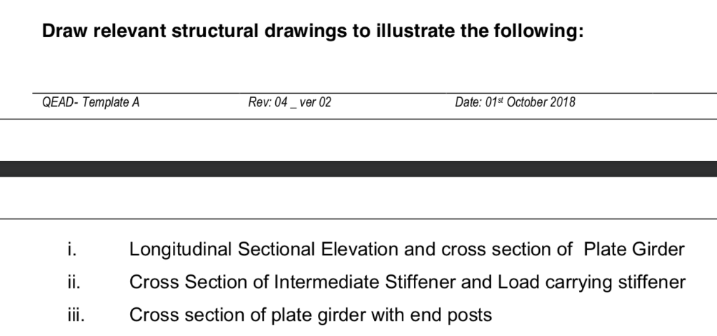 Draw Relevant Structural Drawings To Illustrate Th