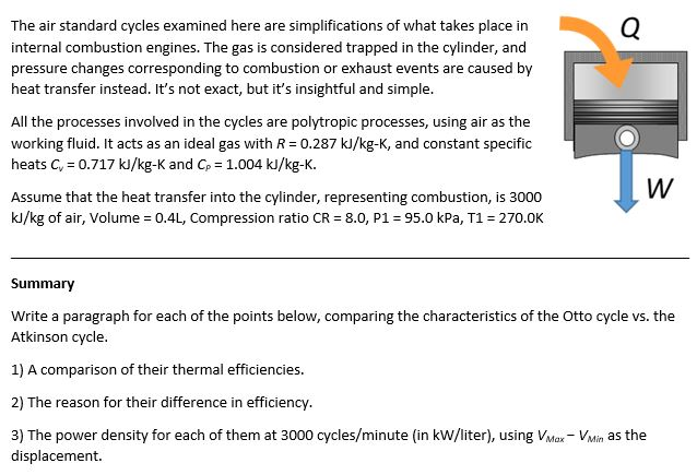 Solved: The Air Standard Cycles Examined Here Are Simplifi