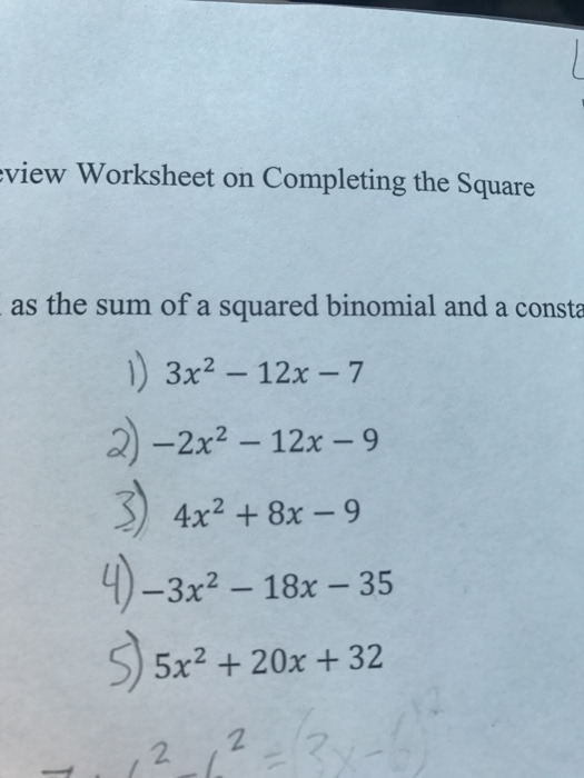 Solved Express Each Polynomial As The Sum Of A Squared Bi