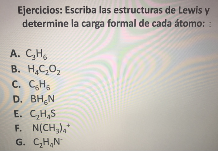 Solved Write Draw The Lewis Structure And Determine The