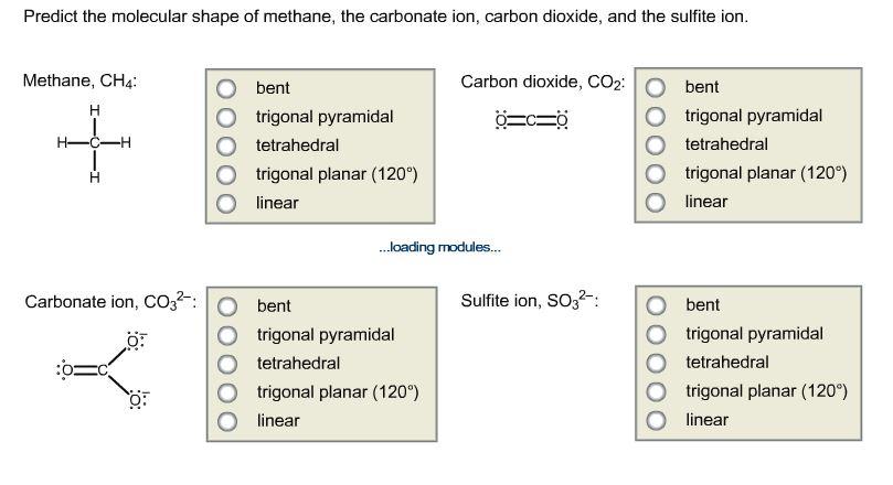Solved Predict The Molecular Shape Of Methane The Carbon Chegg Com