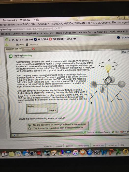 Solved: Bookmarks Window Help Electromagnet Derbilt Univer