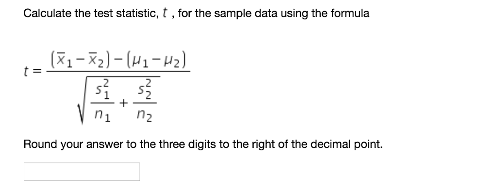 Solved: The Two Samples For This Hypothesis Test Yielded T