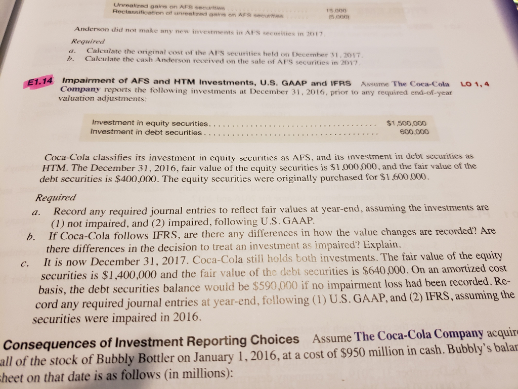 Reclassifying investments from htm to afs acceptance tenhands investment firms