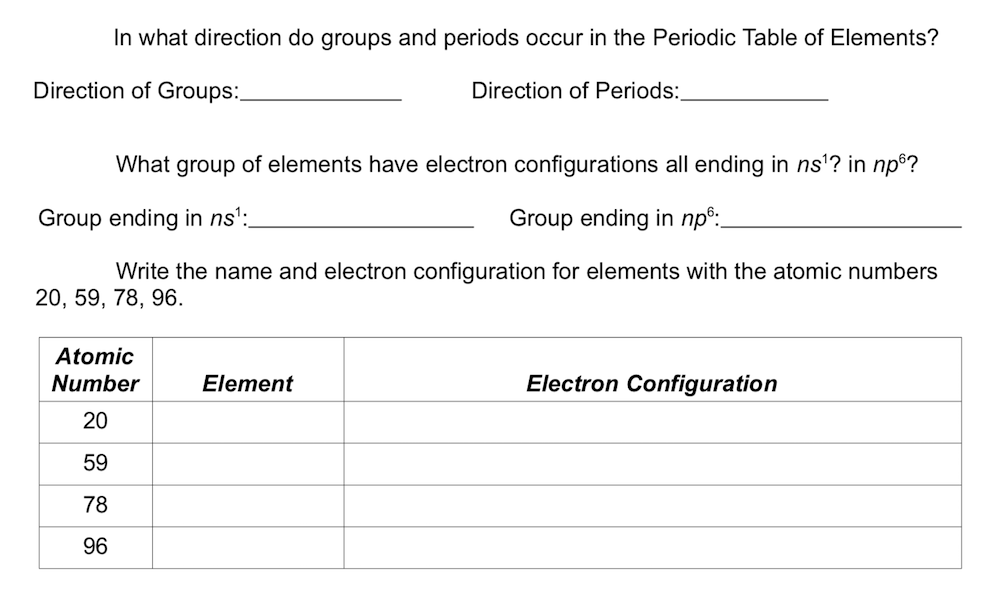 Solved In What Direction Do Groups And Periods Occur In T