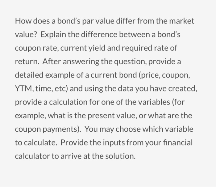 capital cities abc inc bonds with a par value of 1000 that pays an 8 75 percent on its par value in  Current yield is most often applied to bond investments, which are securities that are issued to an investor at a par value (face amount) of $1,000 a bond carries a coupon amount of interest that.