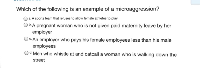 Solved Which Of The Following Is An Example Of A Microagg