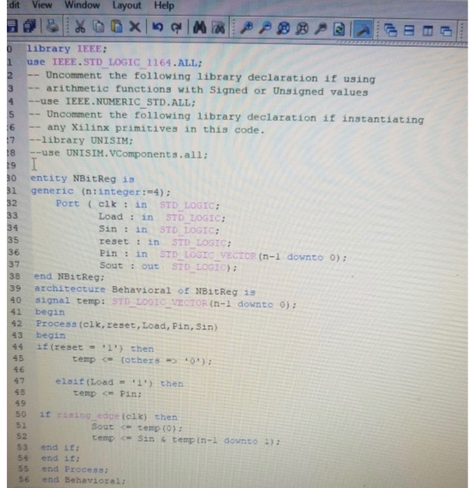 Solved: Use This Code: A) Write A Vhdl Code Using Separate