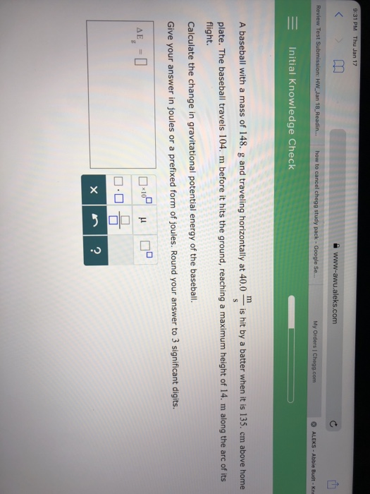Solved: Www-awu aleks com Review Test Submission: HW Jan 1