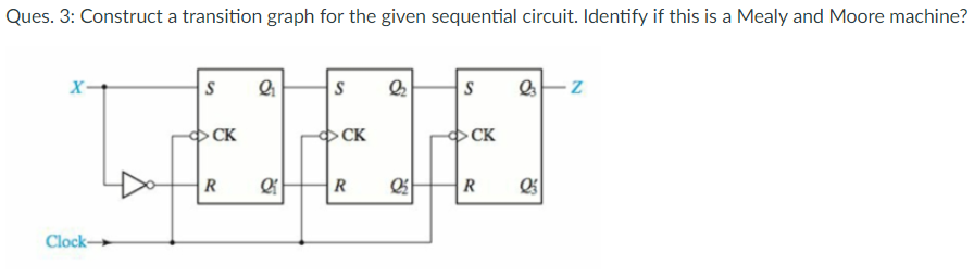 solved ques 3 construct a transition graph for the give