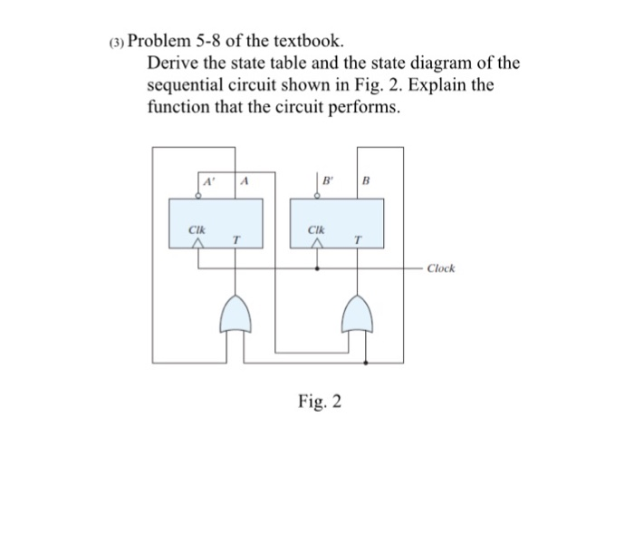 State Diagram Sequential Circuit | Solved 3 Problem 5 8 Of The Textbook Derive The State