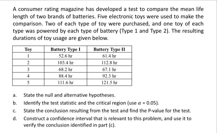 a comparison test involving lasting periods between two brands of batteries In sociology we distinguish between two types of groups based upon their characteristics a primary group is typically a small social group whose members.