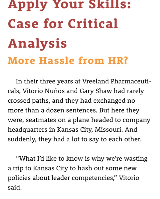 Solved: Apply Your Skills: Case For Critical Analysis More