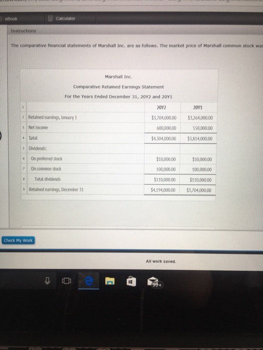 Accounting archive october 26 2017 chegg ebook calculator the comparative financial statements of marshall inc are as follows the market fandeluxe Gallery