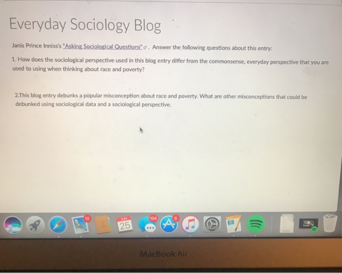 Solved: Everyday Sociology Blog Janis Prince Inniss's 'Ask