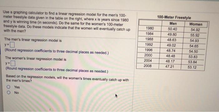 Linear regression.