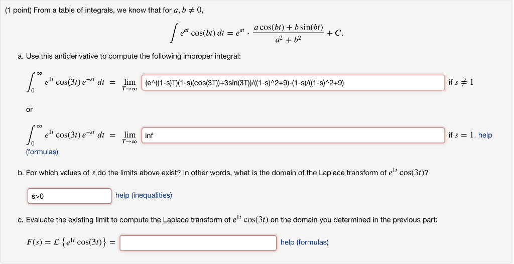 solved from a table of integrals we know that for 0a rh chegg com