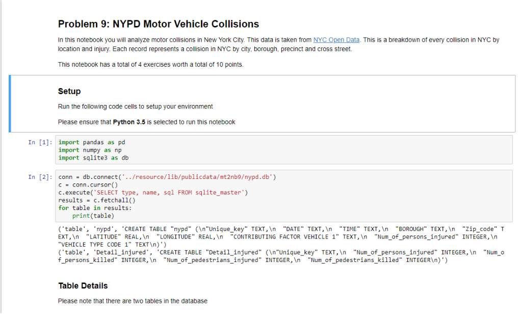 Solved: I Am Trying To Query The Table Nypd As Displayed B