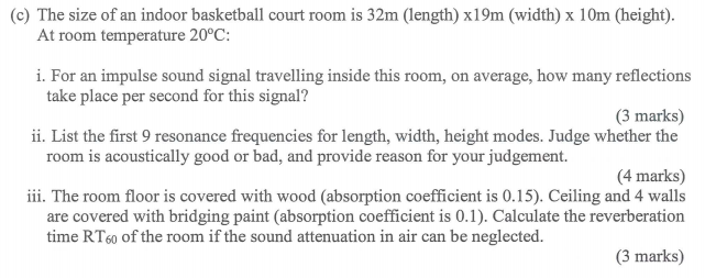 C The Size Of An Indoor Basketball Court Room Is 32m Length