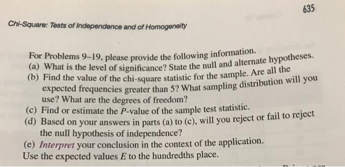 Solved: 8  Interpretation: Test Of Independence Consider C