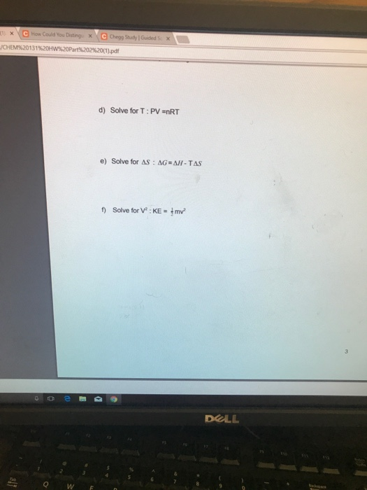 Solved How Could You Distingx Chem 20131 1 Pdf D Solve