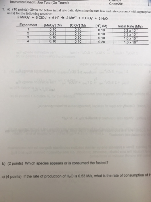 Solved: Instructor/Coach: Joe Toto (Go Team!) Chem201 A ...