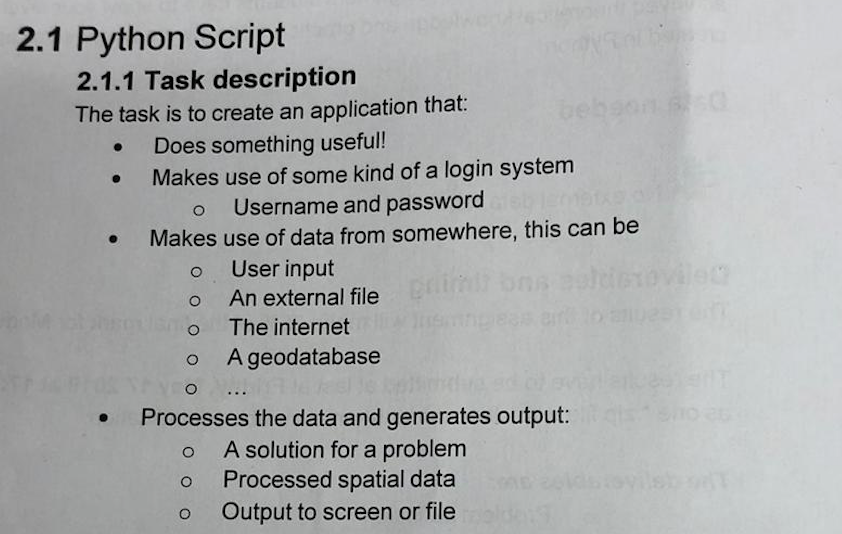 2 1 Python Script 2 1 1 Task Description The Task
