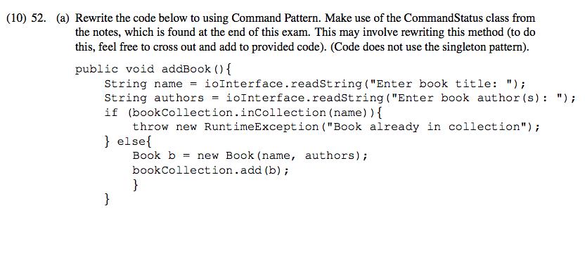 10) 52  (a) Rewrite The Code Below To Using Comma    | Chegg com