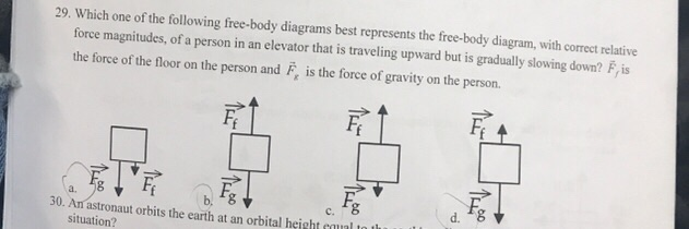 Physics archive april 05 2018 chegg which one of the following free body diagrams best represents the free ccuart Choice Image