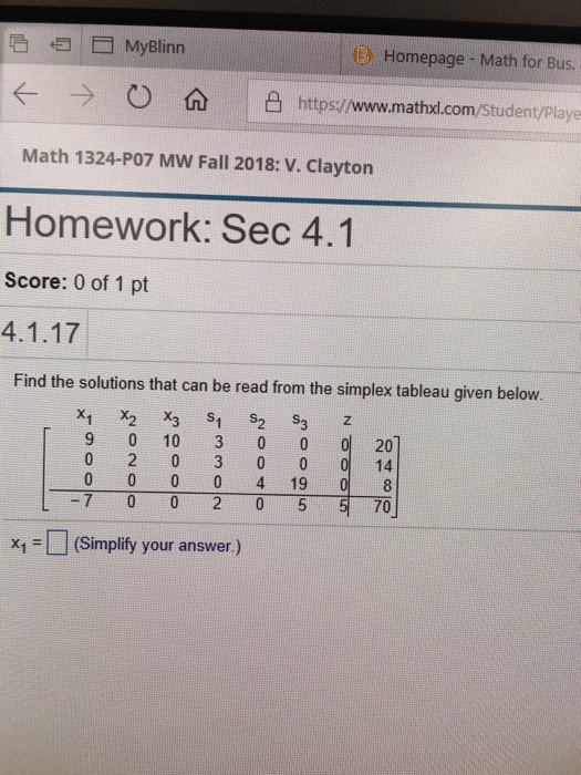 Solved: B Homepage- Math For Bus ← -) O 仚 ㄧ凸https://www