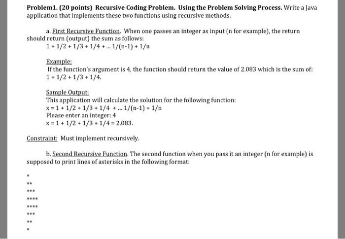 sample problem solving