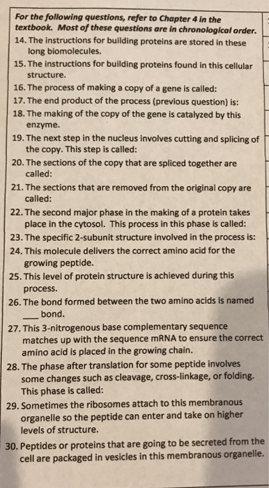 Solved For The Following Questions Refer To Chapter 4 In