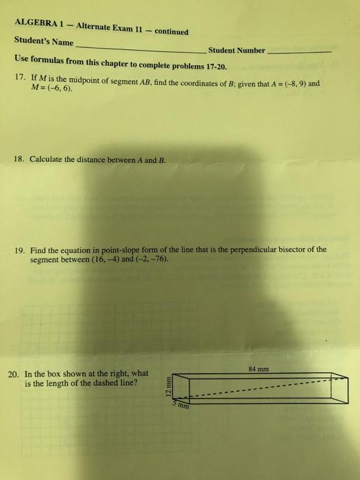 segment 2 final exam algebra answers