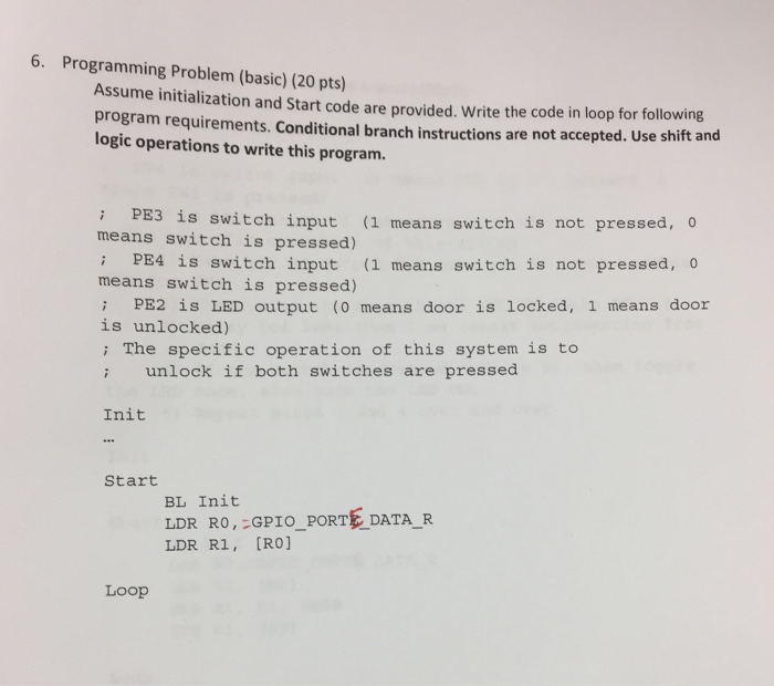 Solved: Assume Initialization And Start Code Are Provided ...