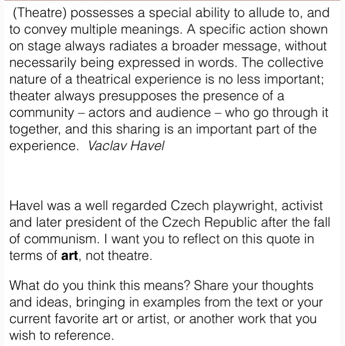 solved theatre possesses a special ability to allude to