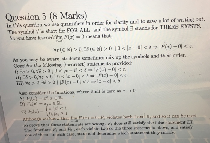 Solved Question 5 8 Marks In This Question We Use Quant