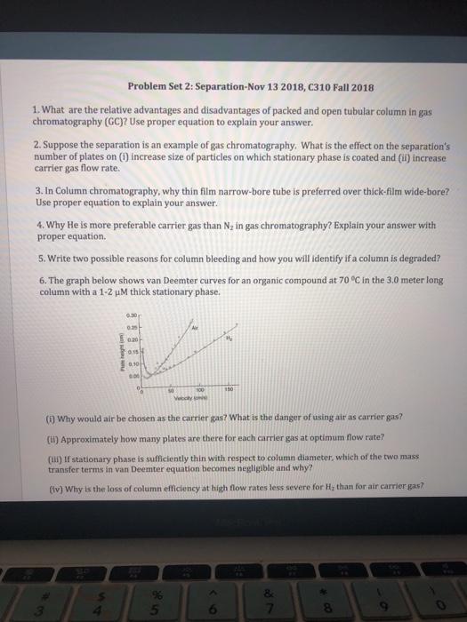 Problem Set 2: Separation-Nov 13 2018, C310 Fall 2