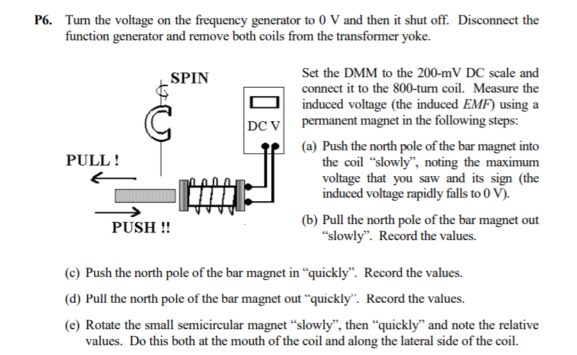 Function Generator And Remove Both Coils From The