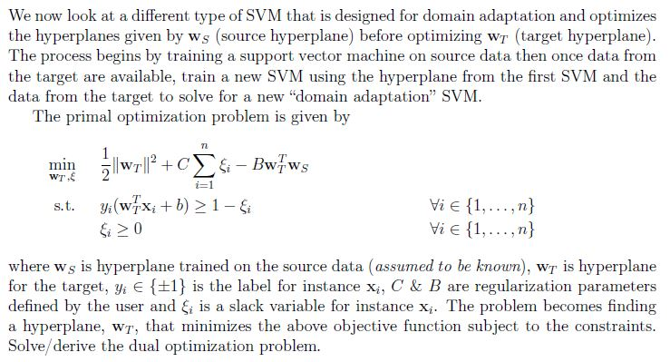 We Now Look At A Different Type Of SVM That Is Des    | Chegg com