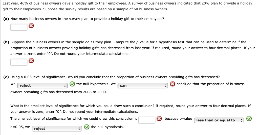 Solved Last Year 46 Of Business Owners Gave A Holiday G Chegg Com