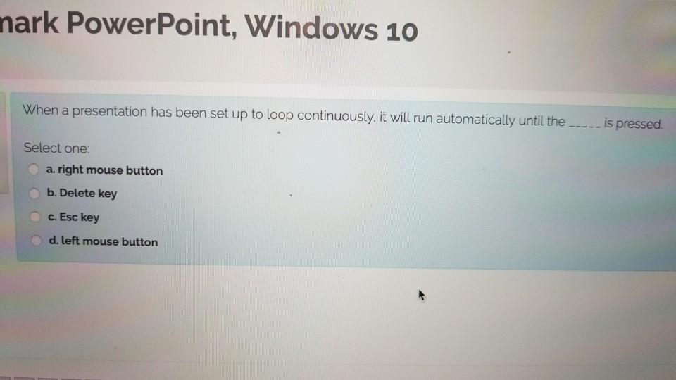 Solved: Nark PowerPoint, Windows 10 When A Presentation Ha