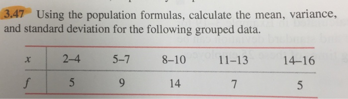 Solved 3 47 Using The Population Formulas Calculate The