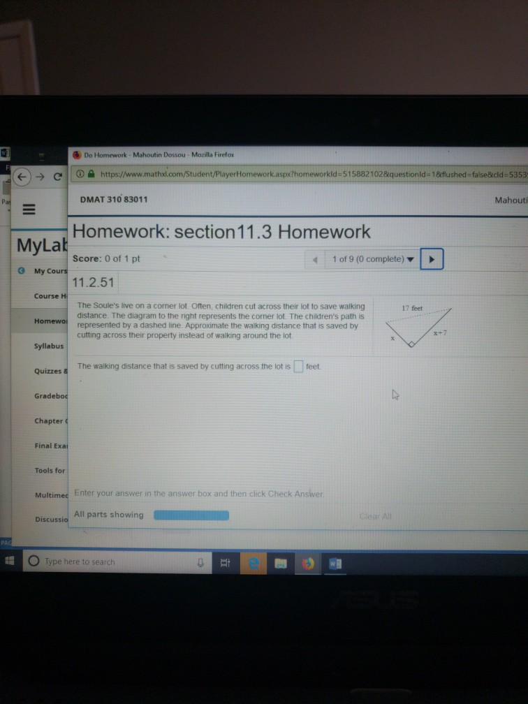 Solved: Do Homework- Mahoutin Dossou- Mozilla Firefox Stud