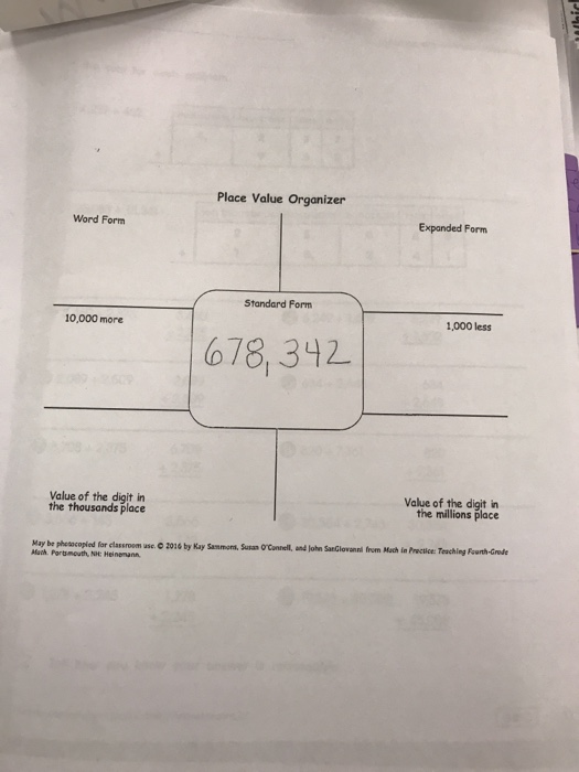 Solved Place Value Organizer Word Form Expanded Form Stan
