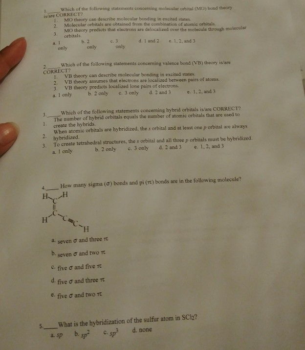 According to VSEPR theory which of the following structure is...
